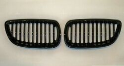 Mit Front Kidney Grilles Glossy Black For And0392005-and0392010 Bmw E92/e93 3 Series