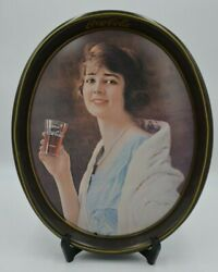 Vintage Coca Cola Oval Flapper Girl Tray Of 1923 Advertising-made In 1973