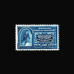 Usa Special Delivery Stamp- Mint No Gum Xf/super B Se4 Gem With Jumbo Margins