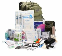 Elite First Aid Tactical Trauma Kit 3 Stocked W/ Backpack Medic Survival Tan