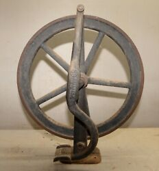 Cast Iron Foot Powered Treadle Wheel For Watchmakers Lathe Collectible 1896 Tool