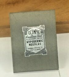 Vintage Olympic Shipman Surgical Co. Rustless Steel Hypodermic 1 Doz Needles 2