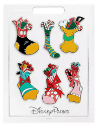 Disney Parks 2020 Christmas Stockings Mickey amp; Friends 6 Pin Holiday Set NEW $21.87