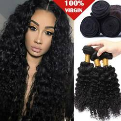 Malaysian Remy Hair 3 Bundles 300g 100 Unprocessed Curly Wave Human Hair Weave