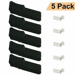 5x Flexible Draw Latch Soft Black Rubber Over Center Boat Latch Door Handle 4