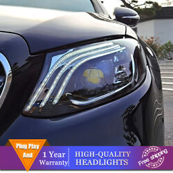 For Benz E-class W213 Headlight Single Lens Beam Projector Hid Led Drl 2016-2020