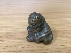 Y0268 Netsuke Edo Period Ball And Lion Japanese Traditional Antique Figure