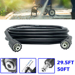 29.5/50ft High Pressure Washer Hose Replacement 3200psi M22 Connect Cleaning Gun