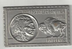 1913 U.s. Indian Head Buffalo Nickel 5 Cents Numistamp Medal Coin Mort Reed