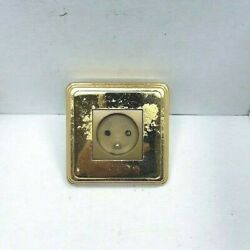 Arnould 60531 Socket 2p+e 10/16a Espace Spray Painted W/cover Plate Gold