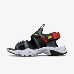 Nike Canyon Sandal - Gray Red / Ci8797-003 / Mens Sandals Slippers