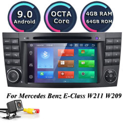 8-core 4+64gb Car Dvd Radio Stereo Gps For Mercedes Benz E/cls/g Class W211 W219
