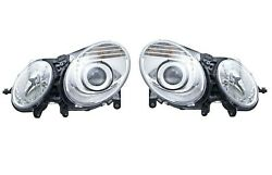 Hella Set Pair Of Left And Right Bi Xenon Headlight Headlamps For Mercedes W211