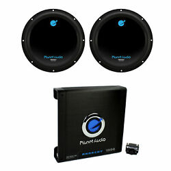 Planet Audio 10 Inch Subwoofer 2 Pack And Ac15001m Car Audio Amplifier W/ Remote