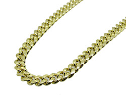 Menand039s 14k Hollow Gold Miami Cuban Chain 26 Inches 6.7mm