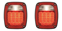 Universal Combination Truck Jeep Chevy Gmc Led Spyder Tail Lamps 76-06 Pair