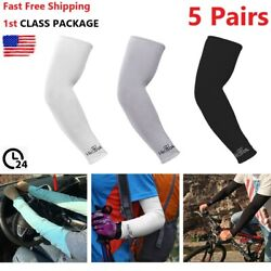 5 Pairs Cooling Arm Sleeves Outdoor Sport Basketball UV Sun Protection Arm Cover $8.99