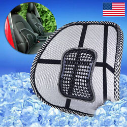 Cool Vent Cushion Mesh Back Lumbar Support Car Office Home Chair Seat Black US $5.99