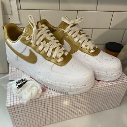 Air Force 1 Low Supreme Gold Medal Size 8.5 New In Box Nib