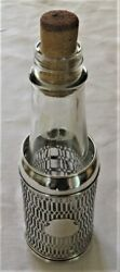 Antique Wallace Sterling Silver Holder W Bottle And Cork Unusual Ex-condition