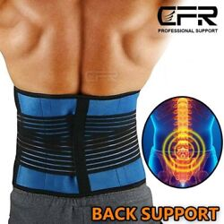 Lumbar Support Lower Back Belt Brace Pain Relief For Lifting Sciatica Scoliosis