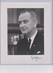 Lyndon B. Johnson Autograph Signed Photo 36th President Of The United States