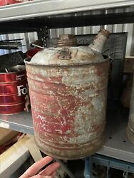 Set Of Two 2 Vintage Metal Gas Cans