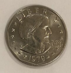 Rare 1979 Susan B Anthony Silver 1 With Blob/p Mint Mark
