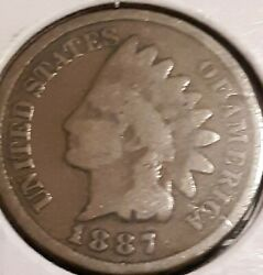 1887 Indian Head Penny Nice Cent