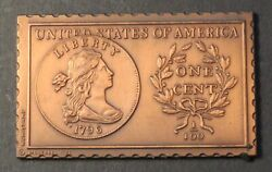 1796 United States Draped Bust Large One Cent Numistamp Medal 1978 Mort Reed