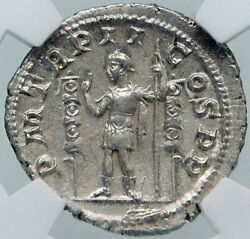 Maximinus I Thrax Authentic Ancient 236ad Silver Roman Coin Ngc Certified I86183