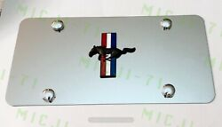 Mustang Gt 350 Front Auto Heavy Duty Vanity Stainless Metal License Plate Frame