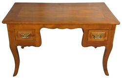Antique 18th Century Fruitwood Country French Library Or Writing Desk 49
