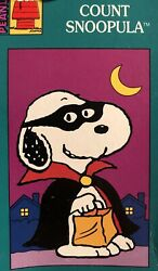 Snoopy Peanuts Count Snoopula Halloween Fall Costume Applique Large Yard Flag Nw
