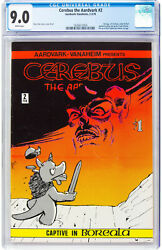 Cerebus The Aardvark 2 Cgc 9.0 1978 2nd Appearance White Pages L9 164 1 Cm