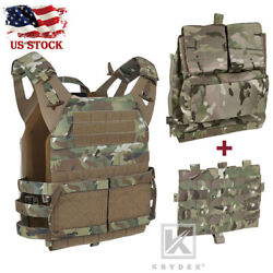 Krydex Jpc 2.0 Jump Plate Carrier Tactical Vest And Molle Panel And Zip-on Back Pack
