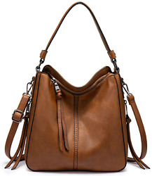 Realer Hobo Bags for Women Faux Leather Purses and Handbags Large Hobo Purse $51.22