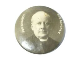 C1910 For Church And Schools Portrait Celluloid Photograph Badge Wl18