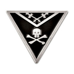 Knights Templar Apron Triangle Masonic Lapel Pin - [black And Silver][7/8and039and039 Tall]