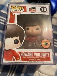 Funko Pop Big Bang Theory Howard Wolowitz 75 Sdcc Le 1008 With Pop Protector