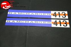 61-62 Dodge Ramcharger 413 Valve Cover Decals Pair