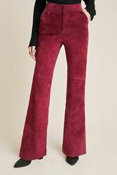 Anthropologie Pants 2 10 Carson Suede Bootcut Trousers Lined High Waist 180 Nwt