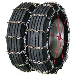 Heavy Duty Square Alloy Dual Cam 10.00-22 Truck Tire Chains