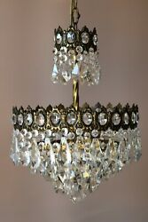French Empire Antique / Vintage Crystal Chandelier Home İnterior Lamp Pendant