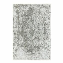 6and039x9and039 Wool And Pure Silk Hand Knotted Broken Design Fine Oriental Rug R58339