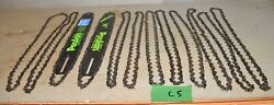 2 New Poulan 14 Reduced Kickback Guide Bar And 12 Used Chainsaw Chain Tool Lot C5