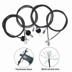 Cable Wire Gym Fitness Home Gym Parts Heavy Duty Dia 5mm Free Shiping 1.4m-3m