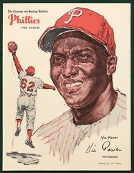 1964 PHILADELPHIA PHILLIES EVENING AND SUNDAY BULLETIN VIC POWER $22.00