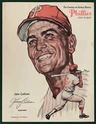 1964 PHILADELPHIA PHILLIES EVENING AND SUNDAY BULLETIN JOHN CALLISON $22.00