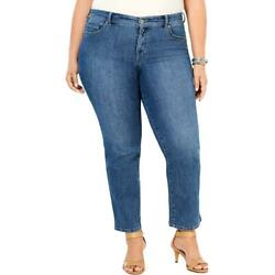 Style amp; Co. Womens Blue High Rise Straight Leg Jeans Plus 24W BHFO 2201 $6.99